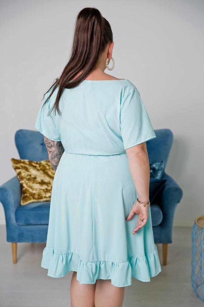 Turkusowa Sukienka MADA Plus Size