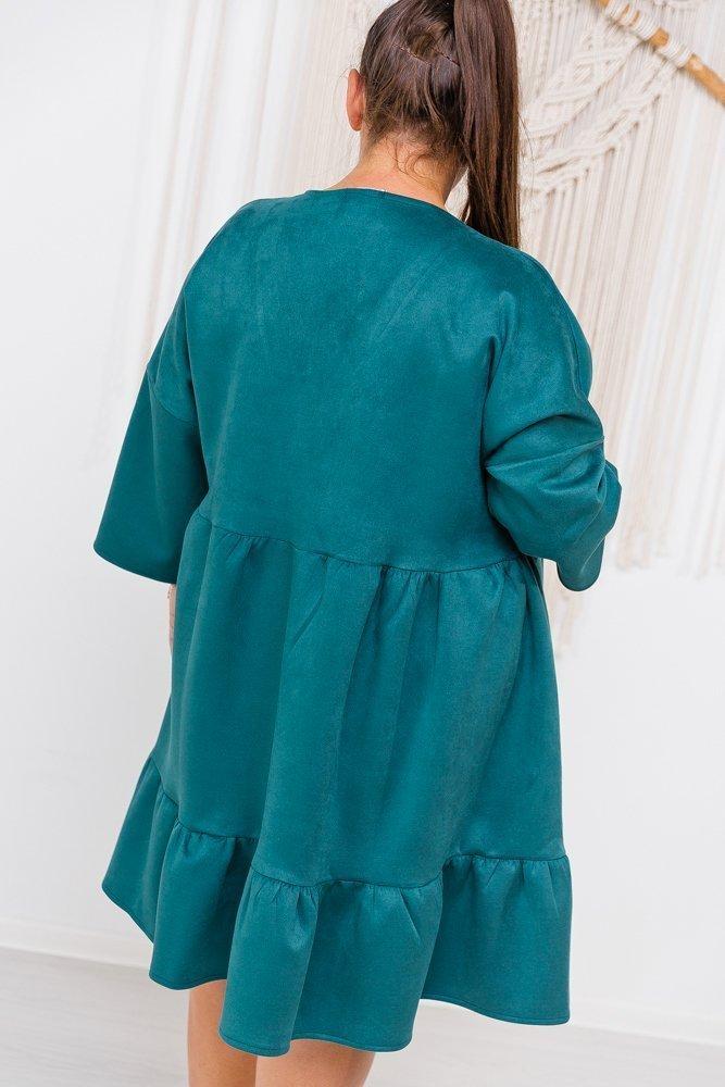 Turkusowa Sukienka MORFA Plus Size