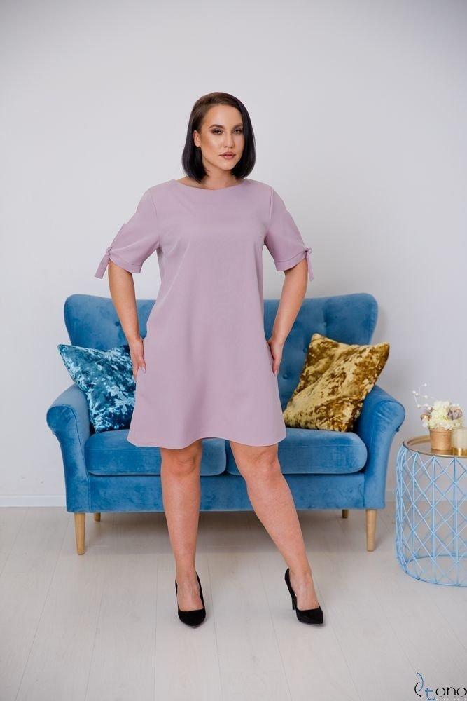 Wrzosowa Sukienka SAFANA Plus Size