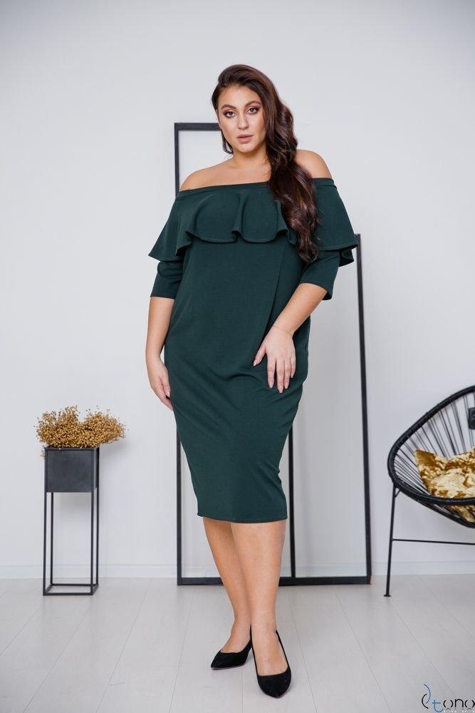 Zielona Sukienka ALBETTA Plus Size