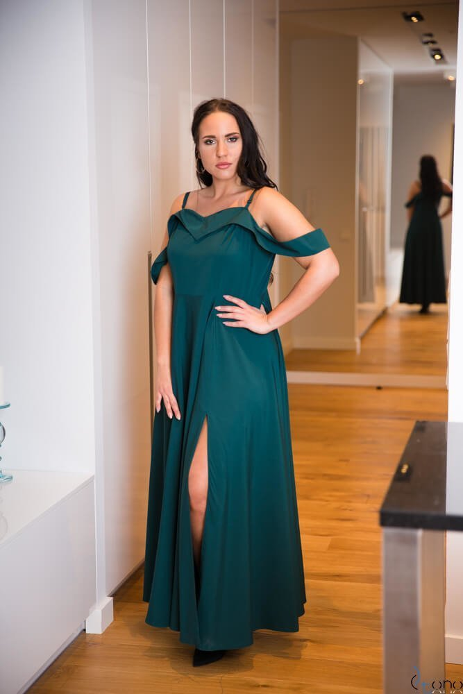 Zielona Sukienka CLIVER Plus Size