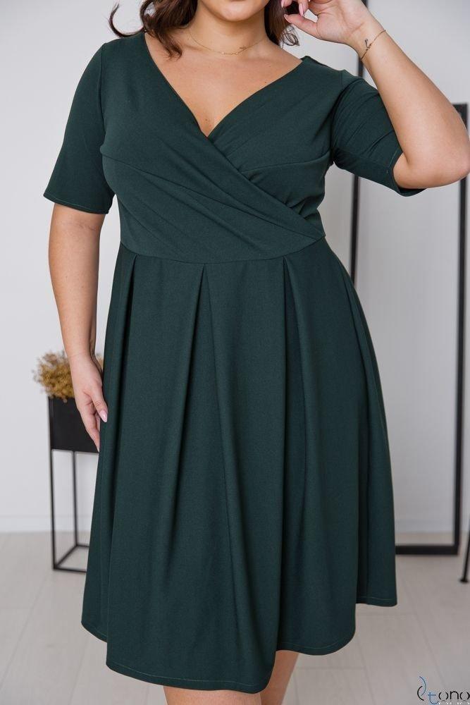 Zielona Sukienka FALON Plus Size