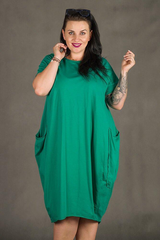 Zielona Sukienka GALOPPE Plus Size