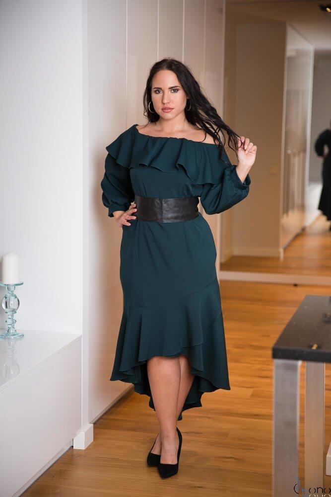 Zielona Sukienka LUSJA Hiszpanka Plus Size