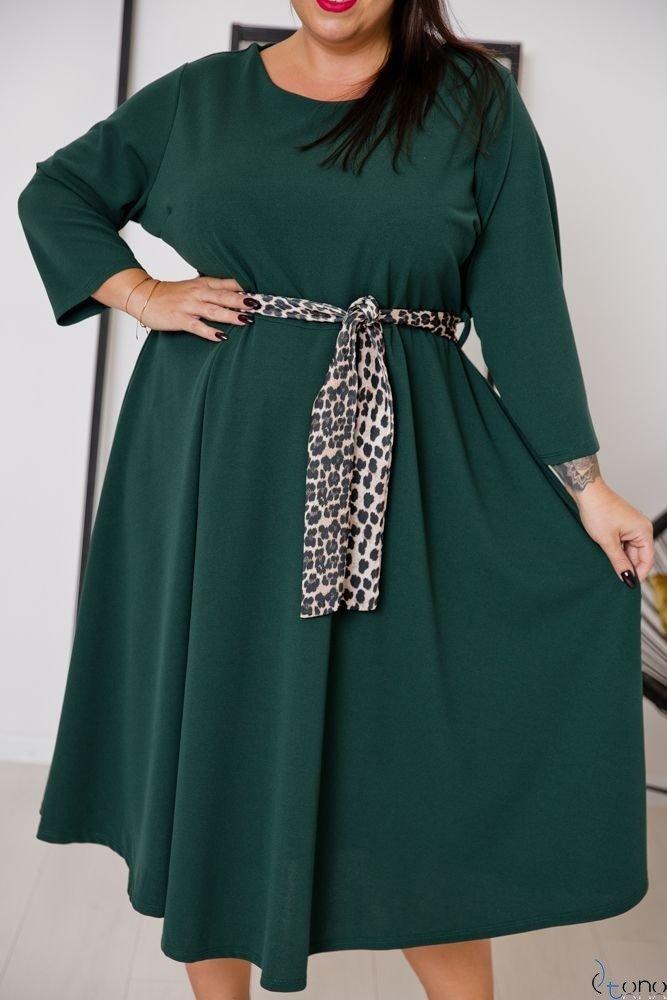 Zielona Sukienka SENTINELLA Plus Size