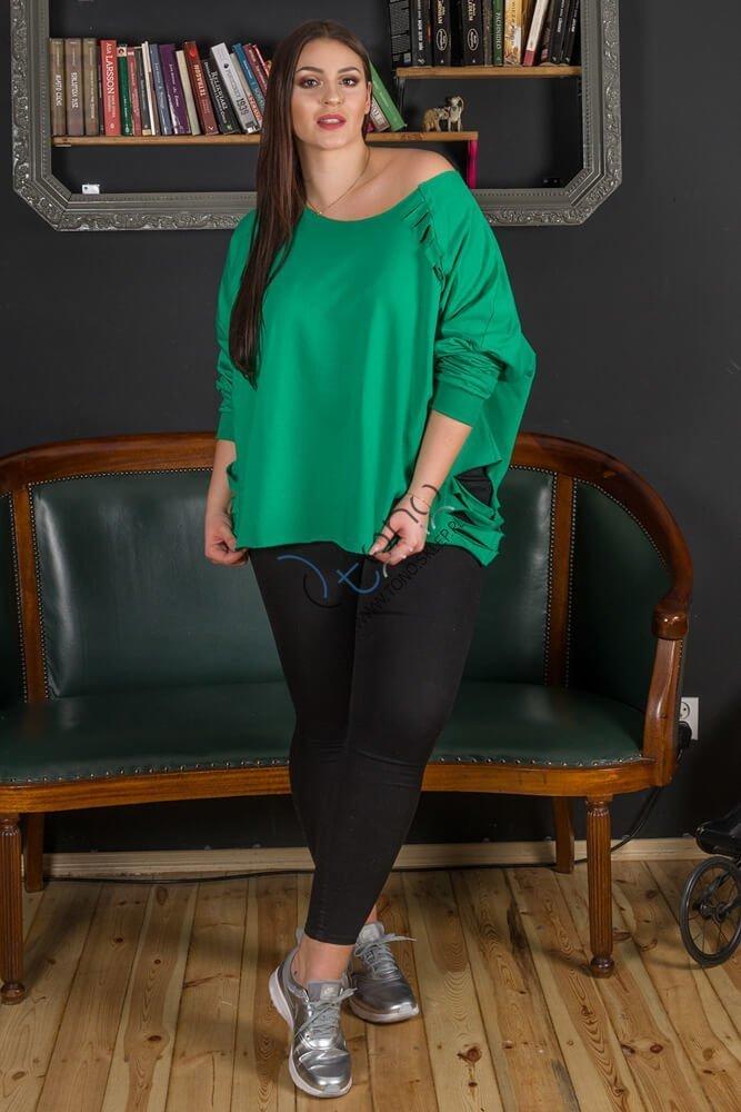 Zielona bluza damska SOLARIS Casual Plus Size