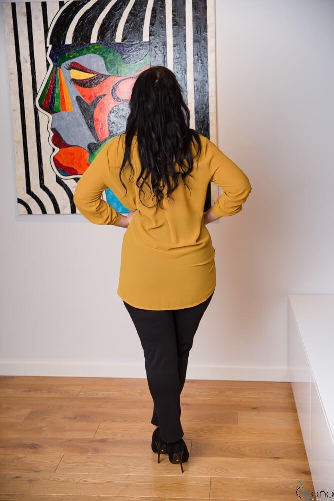 Żółta Koszula LADORE  Plus Size
