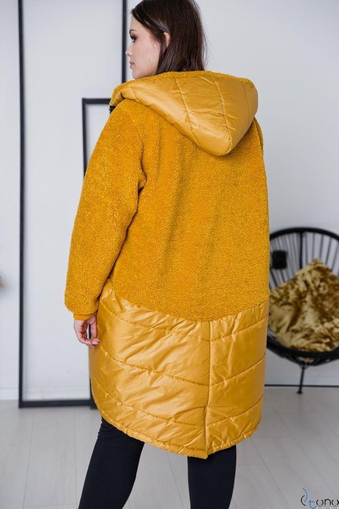 Źółta Kurtka MILI Plus Size