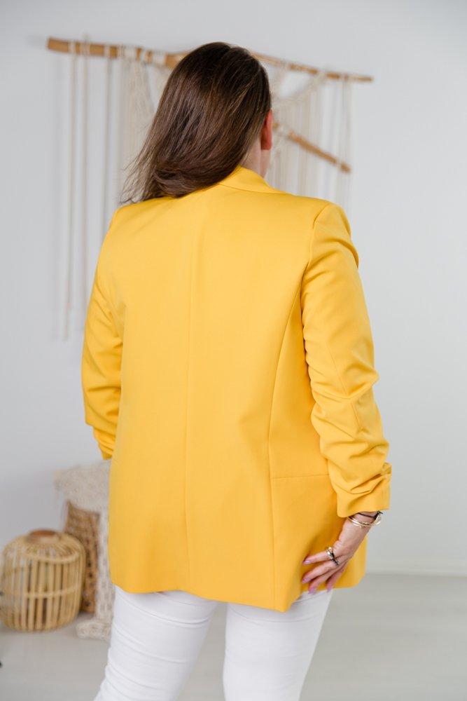 Żółta Marynarka MIRANO Plus Size