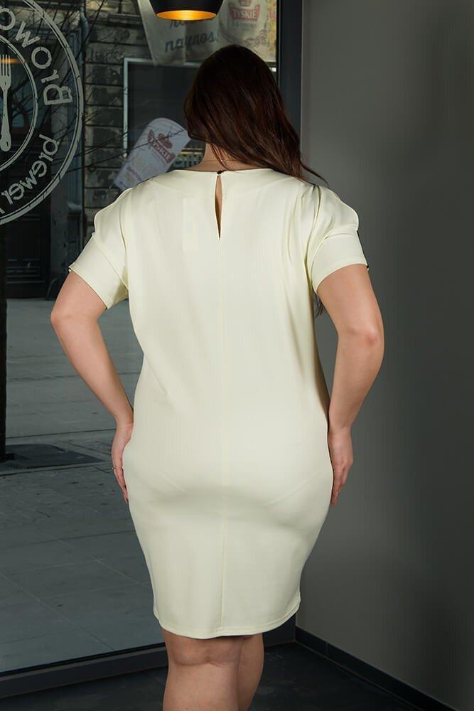 Żółta Sukienka ANASTAZJA duże rozmiary