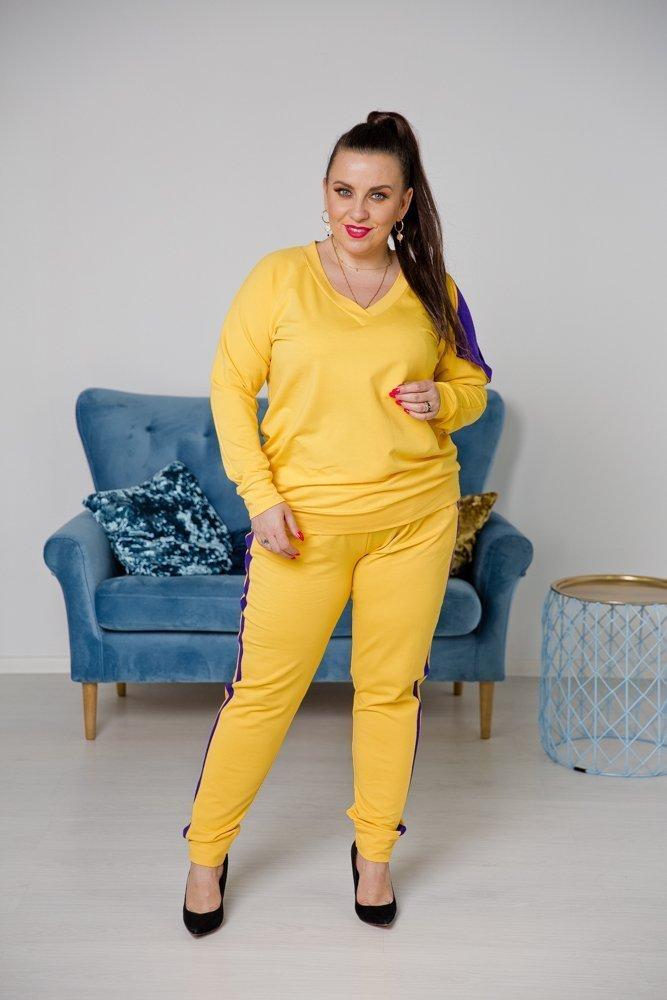 Żółto-fioletowy Dres BROKADI Plus Size